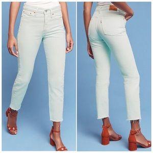 NWT Levi's Wedgie High Waist Green Mom Jeans 24